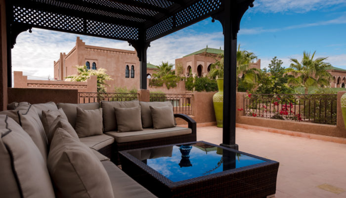 LOCATION RENT VILLA MARRAKECH PALMERAIEDAR LAMIA terrasse